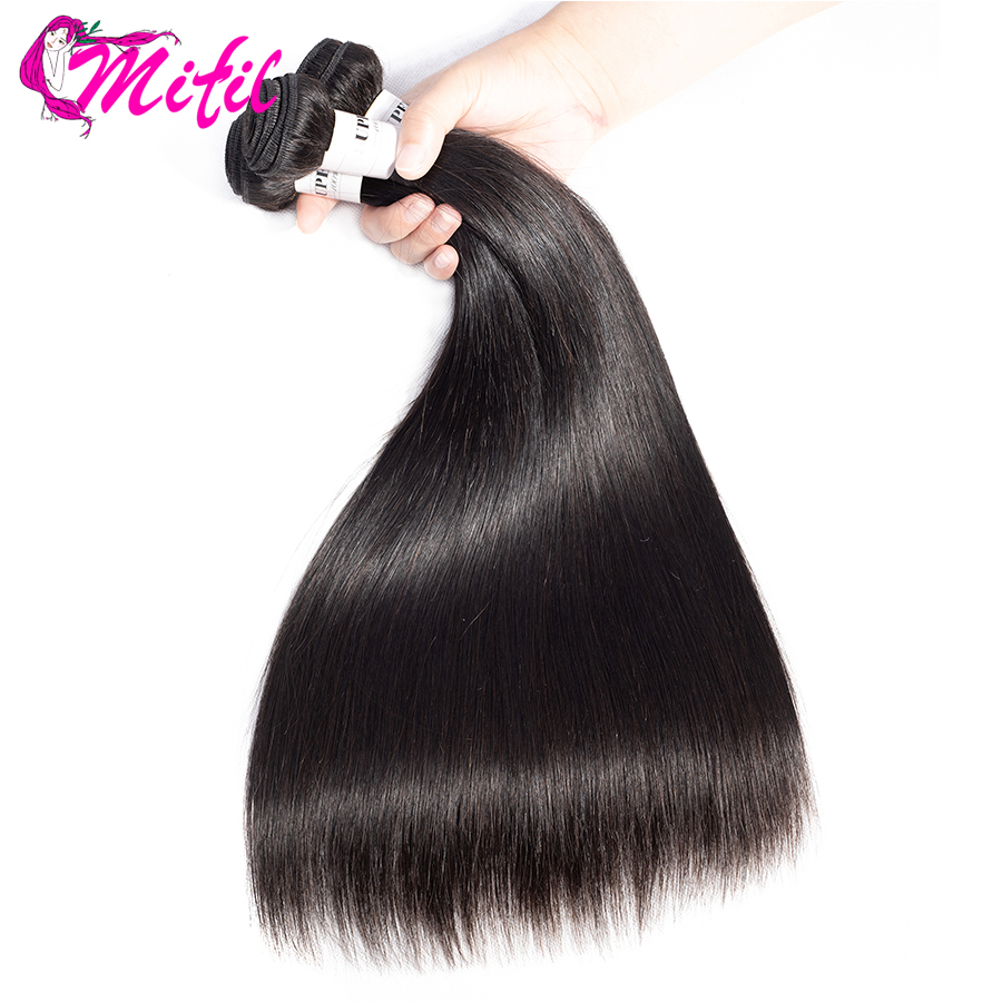 Mifil Hair Indian Straight Hair Bundles 100 Human Hair Weave Extensions Natural Color Non Remy Hair