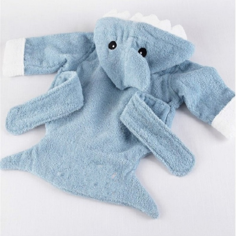 Blue Shark Baby Bath Towels Mouse Newborn Blanket Bedding Swaddle Animal Bebe Bathrobe Hooded Bathing Towel baby stuff in Towels from Mother Kids