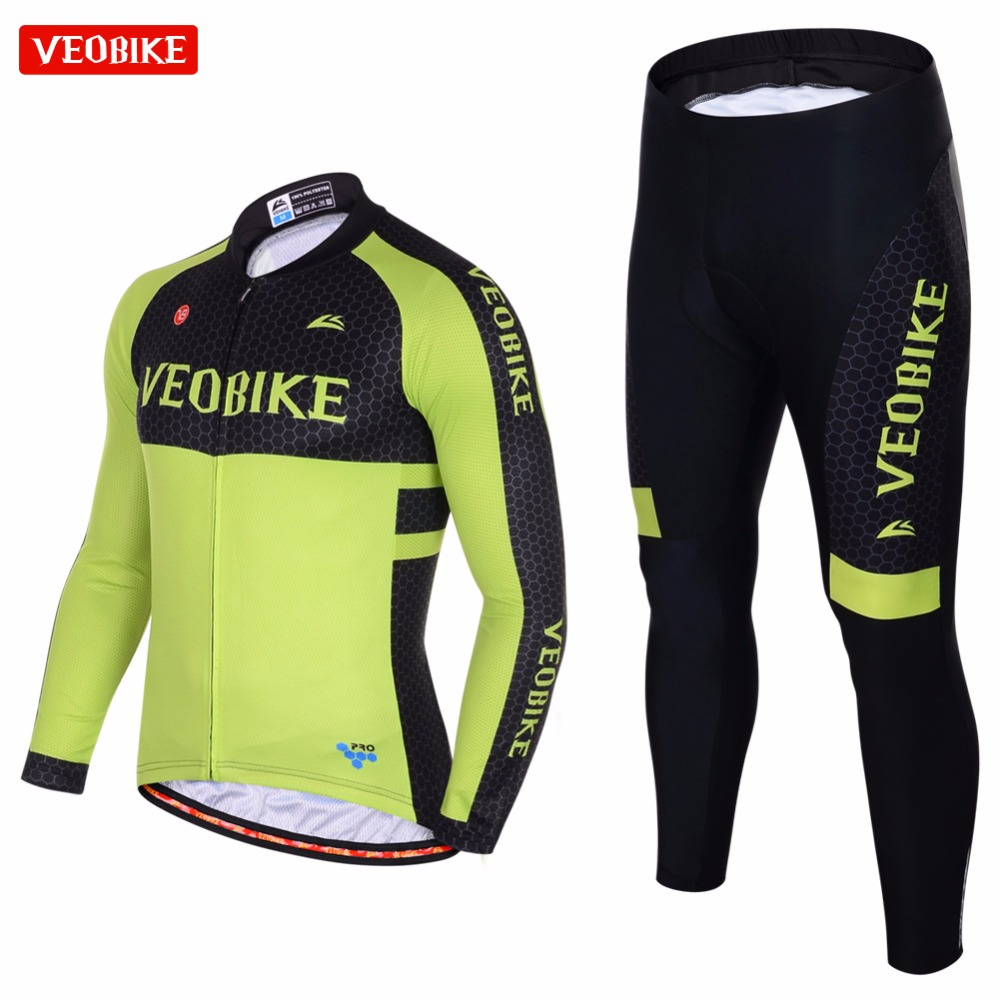 VEOBIKE 2017 Cycling Jersey Sets Long Sleeve Mountain Bike Clothes Wear Maillot Ropa Ciclismo Quick Dry Racing Bicycle Clothing зимняя шина continental contiwintercontact ts 810 185 65 r15 88t н ш ml mo