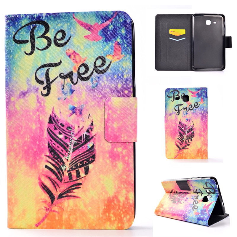 2016 Tab A6 Case For Samsung Galaxy Tab A 7.0 T280 T285 SM-T280 Case Cover Tablet Fashion Painted Flip Leather Funda Shell