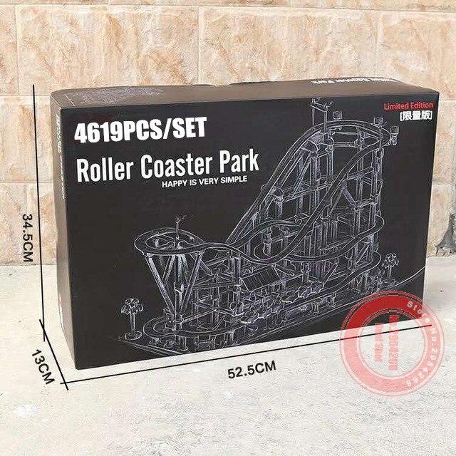 Nouveau 4619 pièces le parc de montagnes russes fit legoings technic moteur puissance fonction blocs de construction briques Kid bricolage jouets cadeau d'anniversaire