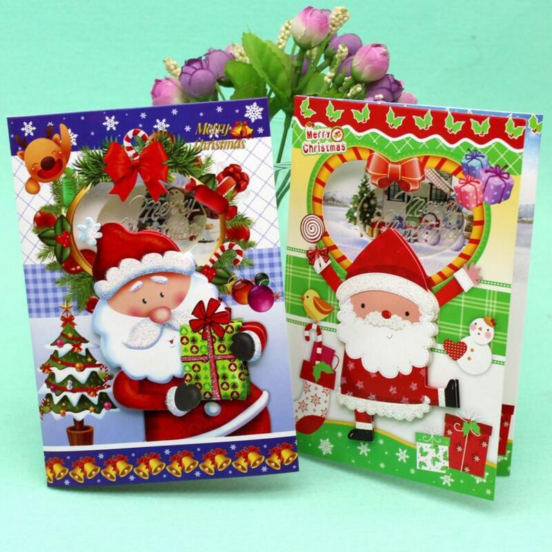 12 Pcs/lot Cute Santa Claus Greeting Cards Postcard Creative ...