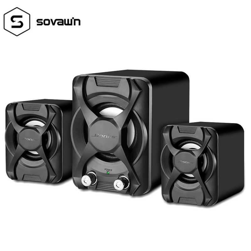 5W Speakers Computer Bass Wired Subwoofer Stereo Full-range USB Portable Mini Desktop Speaker For Computer MP3 Laptop Smartphone
