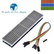Módulo de matriz de puntos TZT MAX7219 para microcontrolador Arduino, pantalla 4 en 1 con Línea 5P