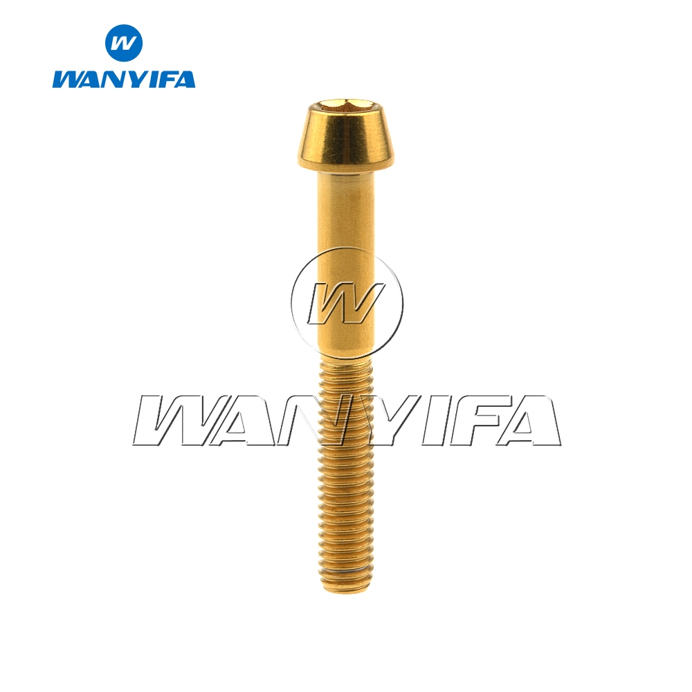 Wanyifa Titanium Bolt M5x 9 16 18 20 25 30 35 40 45 50 55 60mm Allen Key Taper Head Bolt for Bicycle Stem Seatpost Screw in Bolts from Home Improvement