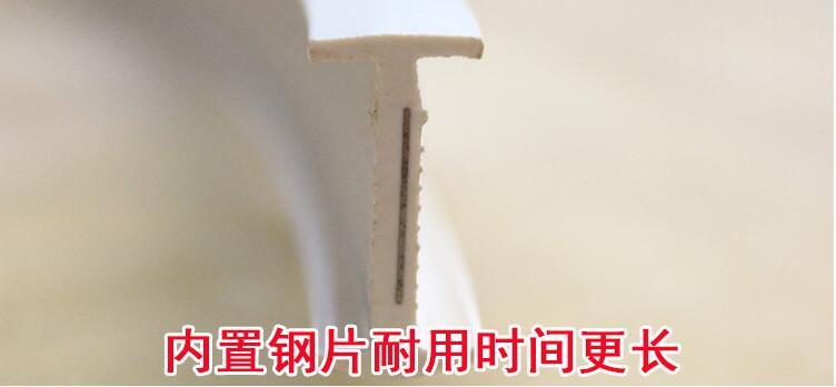 plástico silêncio plana curvo faixa cortina gancho