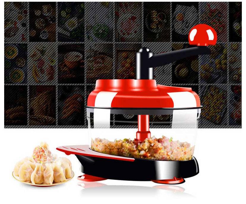 500ml-1.5L High-capacity Multi-function Kitchen Manual Food Processor Meat Grinder Vegetable Chopper Shredder Cutter Egg Blender