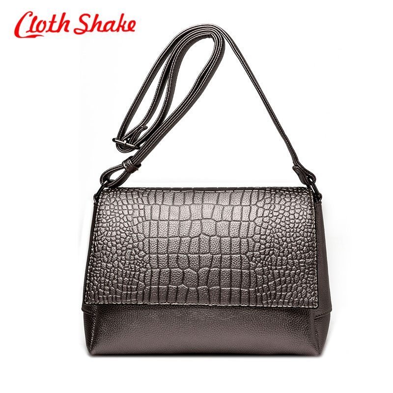 PU Leather Women Messenger Bags Crocodile Skin Pattern Crossbody Bag Female Fashion Shoulder Bags For Women Clutch Small Handbag female brand design women bag fashion rivet messenger bags solid pu leather clutch bag vintage crossbody bag punk women handbag