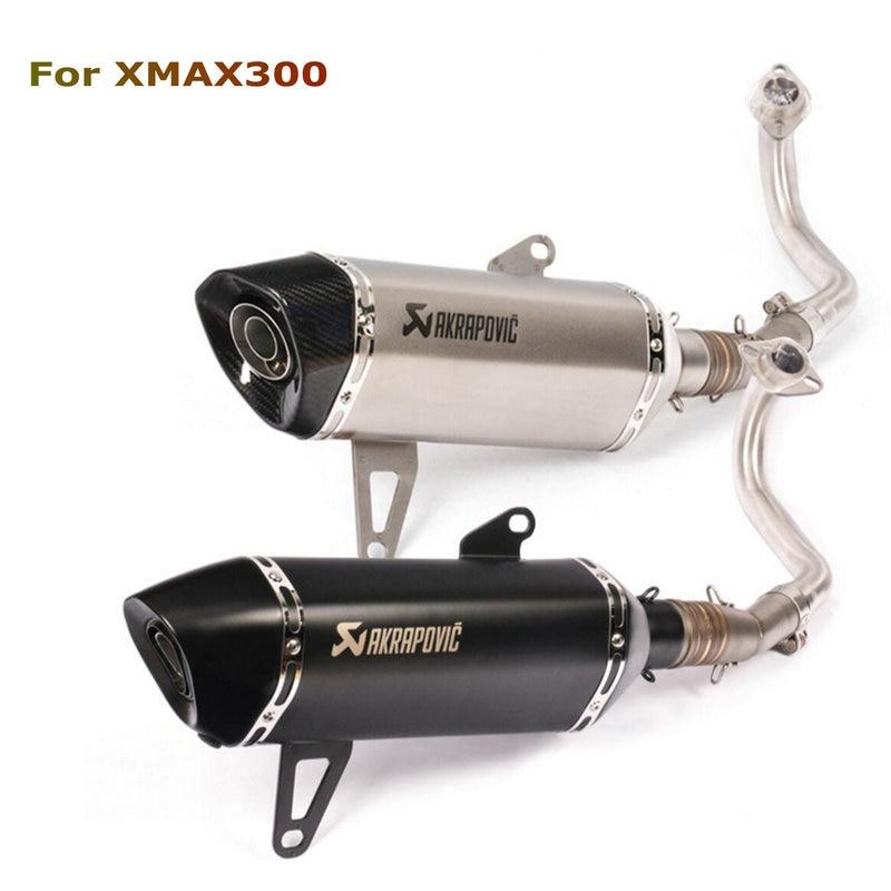 Akrapovic pot d'échappement moto Xmax 250 modifié pot d'échappement Xmax 300 sans lacet pour YAMAHA Xmax série Scooters 2017-2019