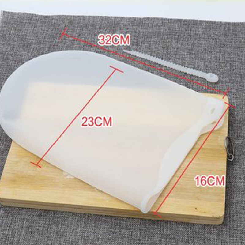 Pouch Soft Porcelain Silicone Kneading Dough Bag For Flour Mashed Potatoes Pastr