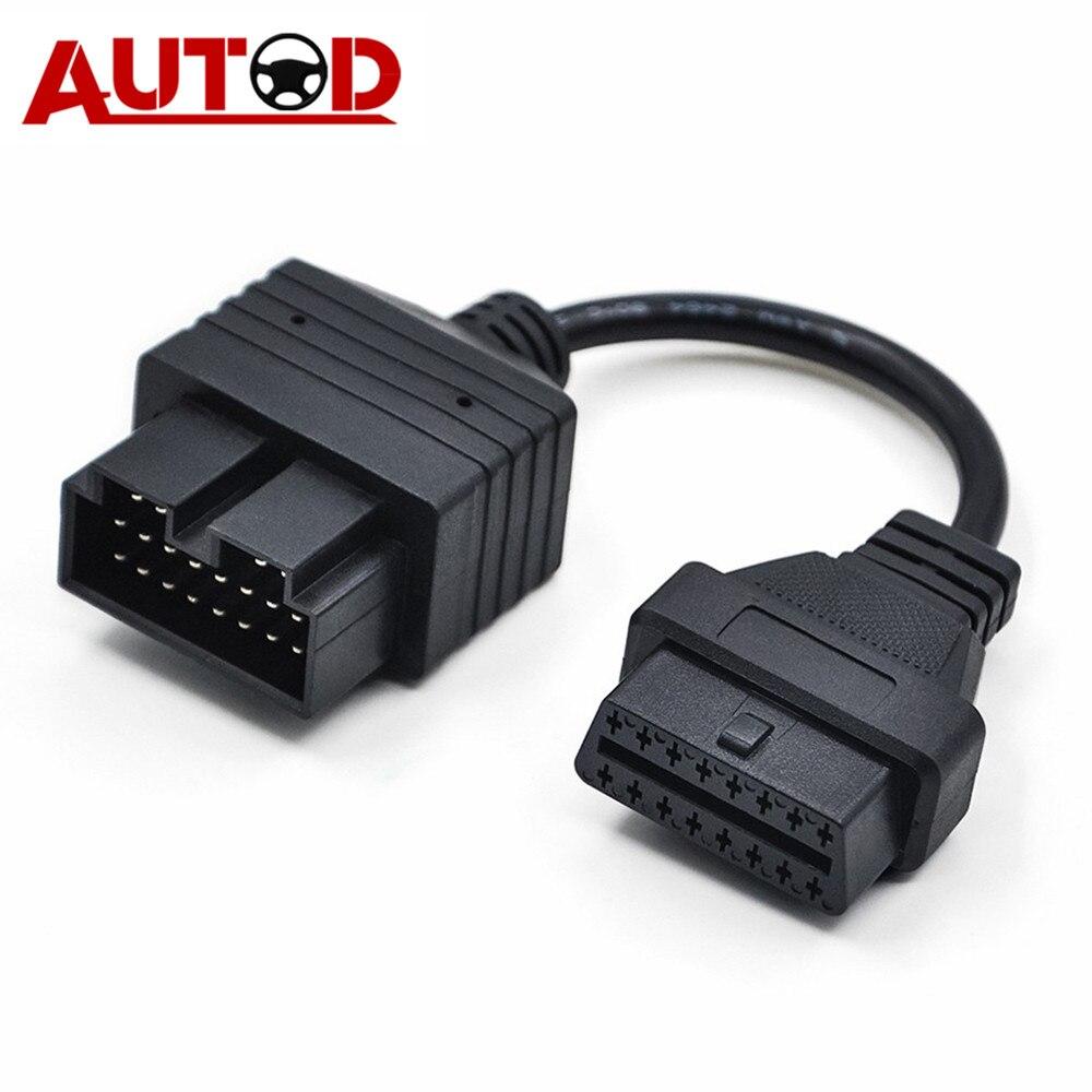 OBD2 Cable For KIA Sportage 20PIN OBD Connector 20-16PIN Diagnostic Cable Auto Connector 20 PIN Cable Adapter For KIA20