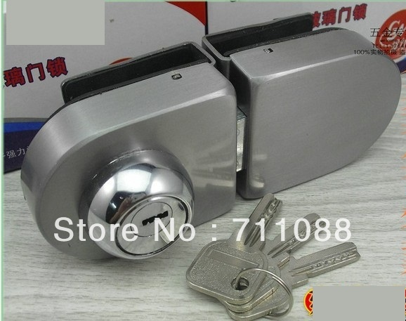 Dooren Free shipping 2013 LT factory direct sell Double door glass lock round glass double doors 6330 with key