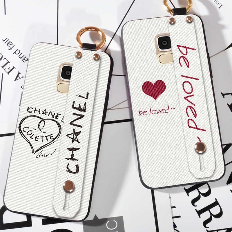 Wrist Strap Hand Band Case For Samsung Galaxy A5 2016 Lattice Love Finger Ring Cover Case For Samsung A5 2017 2018 Stand Coque