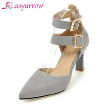 Lasyarrow Wedding Pumps Shoes Woman Ladies Gladiator High Heels Shoes Pointed Toe Sexy Party Wedding Cut Out Women Pumps RM027