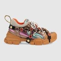 Популярные женские кроссовки; цепочки для крестиков; кроссовки со стразами; женская повседневная обувь на толстом каблуке со шнуровкой; Рос