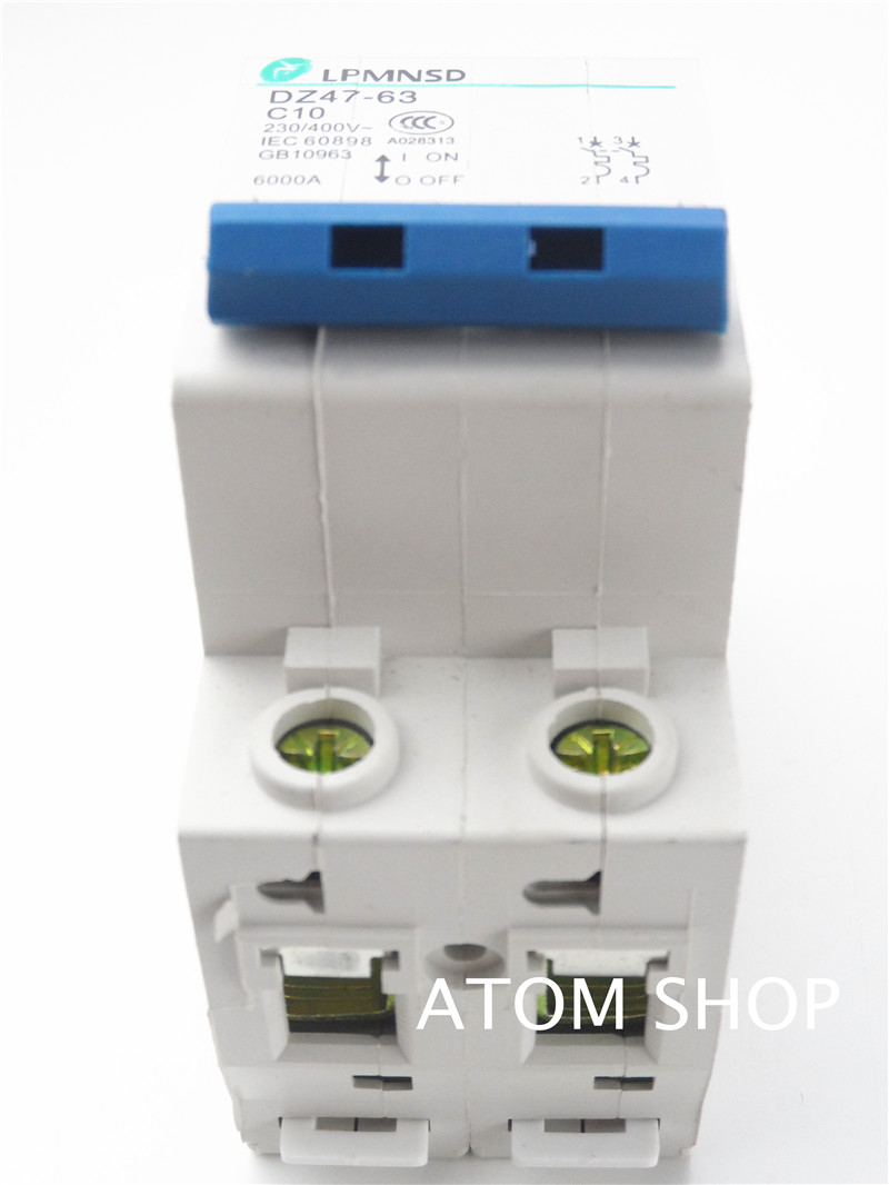 Dz47 2p 10a 400v 50hz 60hz Circuit Breaker Ac Mcb Safety Wiring Product Name Model No Exrternal Material Plastic Metal Rated Voltage 230v Current Breaking Capacity 6000a