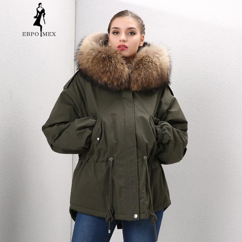 2017 femme armée bleu renard fourrure col à capuche manteau parkas outwear 2 en 1 doublure amovible hiver veste style de marque