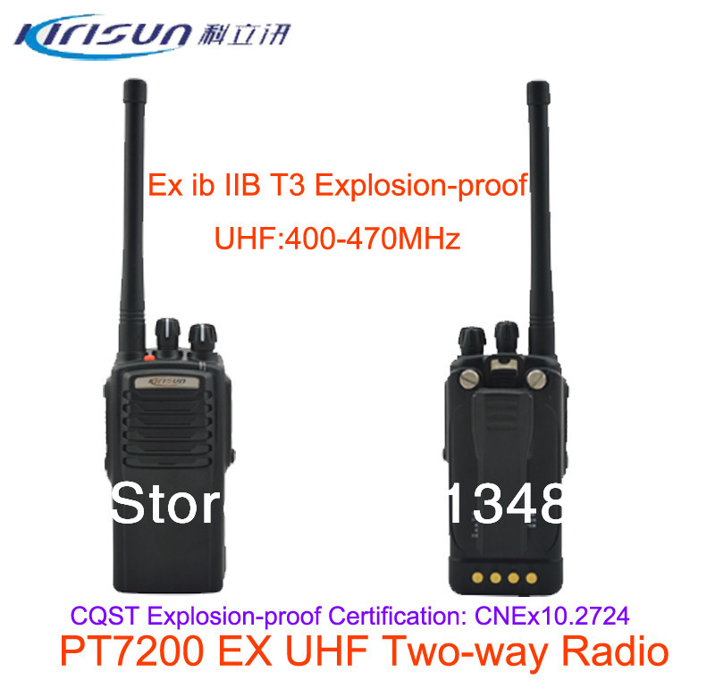 Kirisun PT7200EX Explosion-proof UHF 400-470MHz 16 Channel Professional Portable Two Way Radio Walkie Talkie Transceiver