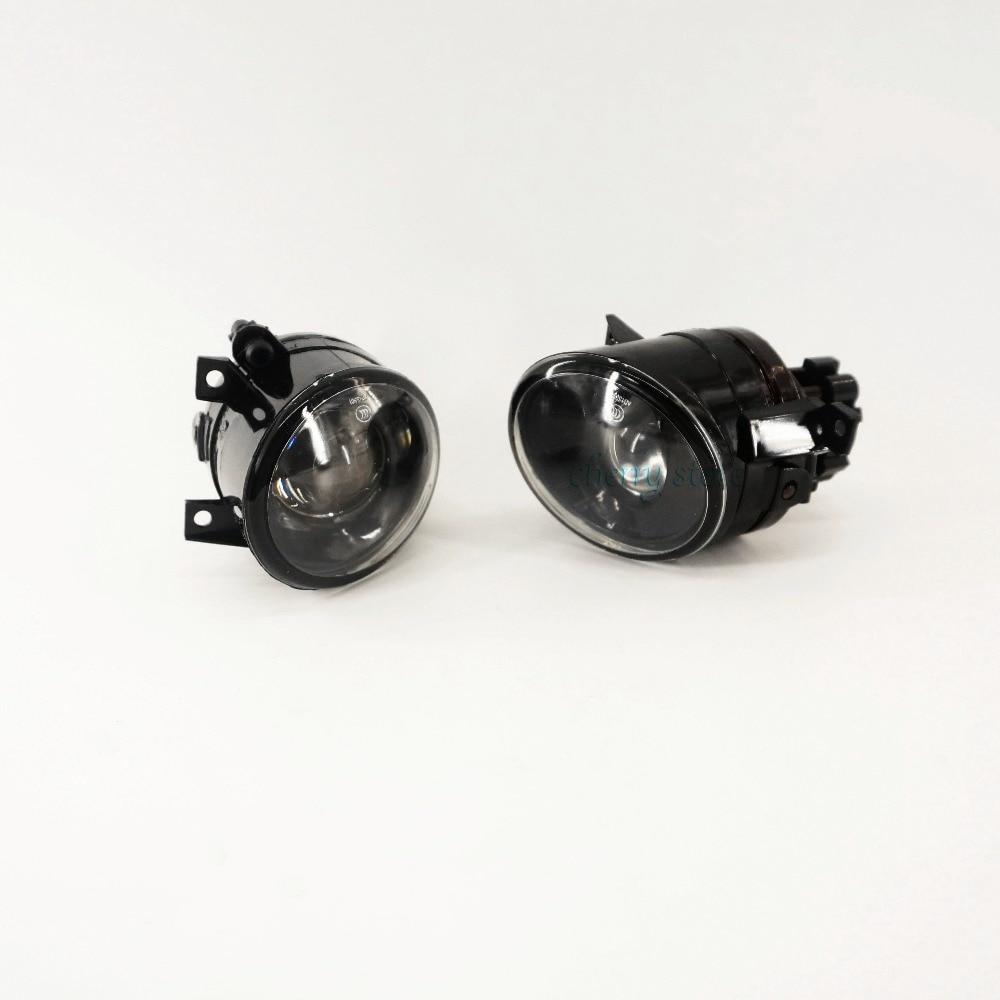 Pair Of Front bumper Clean H11 Fog Lights FogLamps w/ Bulb For VW Jetta 5 Golf MK5 Rabbit Eos 1T0 941 699 C  1T0 941 700 C oem front bumper 9006 plug convex lens fog lights 12v 55w lamps for vw jetta golf mk5 eos tiguan caddy 1t0 941 699 1t0941699