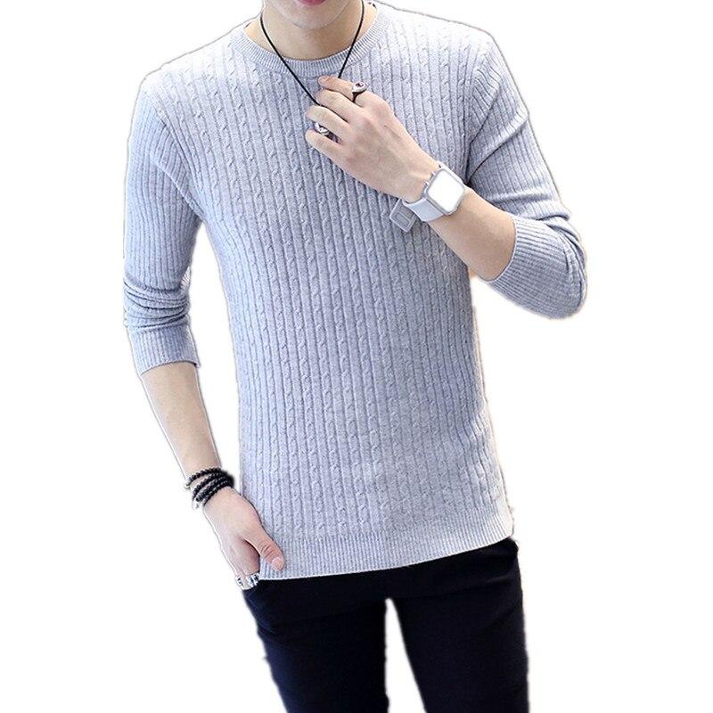 1 Stücke Männer Pullover Streifen Mode Rundhals Pullover Einfarbig