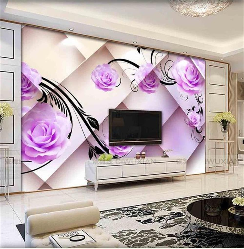 3d wallpaper custom photo hd mural 3d rose romantic only for Beautiful bedroom pictures only