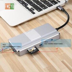 Image 4 - ドッキングステーションオールインワン USB C hdmi カードリーダー PD アダプタ MacBookType C ハブドッキングステーション