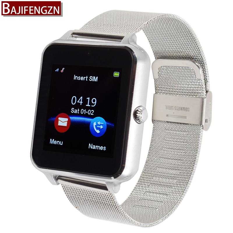 imágenes para Deporte teléfono E6 bluetooth reloj inteligente para android reloj inteligente Apoyo TF tarjeta SIM de Acero correa de cuero 1.54 TFTPK DZ09 GT08