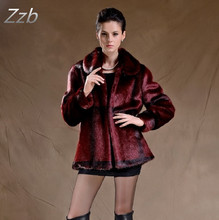 Autumn and Winter women's fashion fur coat female faux mink fur coat female winter thicken warm loose overcoat plus size  ZZB019
