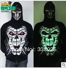 C C Market Free Shipping quality luminous jacket fleece Hoody Sweatshirts Men s 3D print Brand