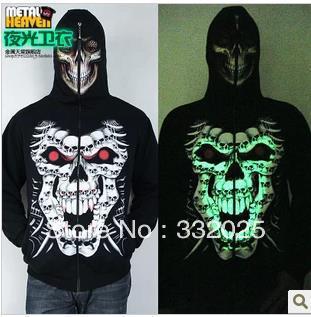 C C Market Free Shipping quality luminous jacket fleece font b Hoody b font Sweatshirts font