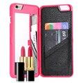Floveme espejo caso para iphone 6 6 s plus rejilla de flujo de agua patrón de la Carpeta + Ranura de La Tarjeta Para Apple iPhone7 7 Plus de la Mujer bolsas