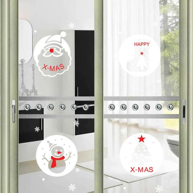 Christmas wall sticker decoration decal window stickers home decor photo wall mural wallpaper for window glass