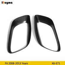 Глушитель из углеродного волокна декоративная рамка для BMW X6 35i xDrive 2008-2013 год E71 хвост CF базовое пальто глушитель рамка 1 пара