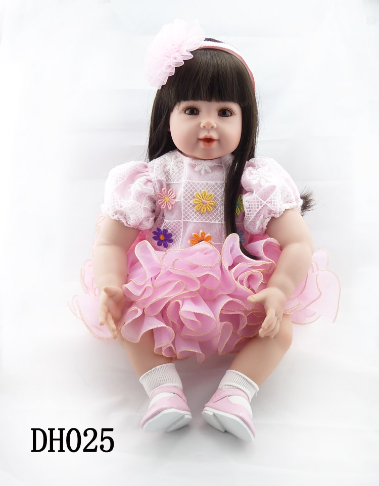 52cm Silicone Vinyl Reborn Baby Doll Toys Girl Brinquedos Lifelike Accompany Toddler Girls Toy For Child Kids Christmas Gifts lifelike american 18 inches girl doll prices toy for children vinyl princess doll toys girl newest design