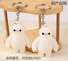 2 Pcs/set Big Hero 6 Baymax Action Figure Toys Super Cute 6cm Anime Key Chain Pendant Gadget Toys for Christmas Gifst Free Ship