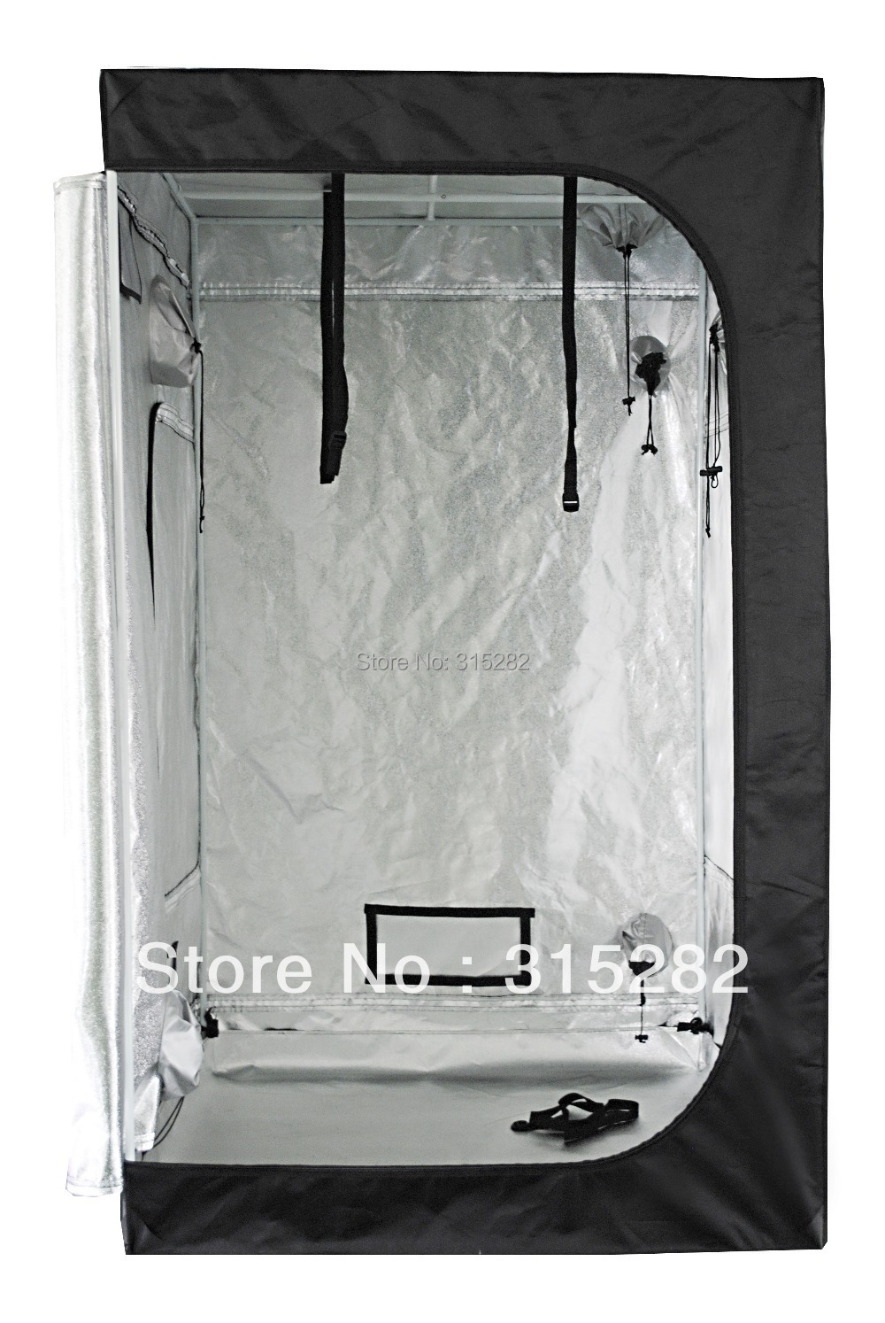4u0027x4u0027x6.6u0027 Grow Tent, 600D Canvas, None Toxic, Strong Steel Frame,  Detachable Floor, Waterproof And 100% Lightproof
