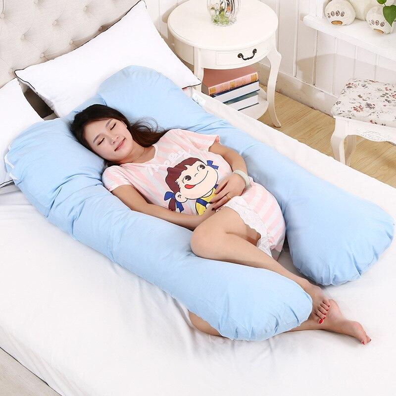 130 70CM Sleeping Pillow for Pregnant Women Pregnancy U Shape Pillows Baby Pregnant Women Nursing Pillow
