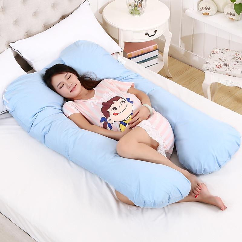 130*70 CM Travesseiro para Dormir para As Mulheres Grávidas Mulheres Grávidas Gravidez U Travesseiros Bebê Apoio Cintura Travesseiro de Enfermagem almofada