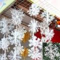 New 2016 Christmas Tree Decorations Snowflakes 30pcs 11cm White Plastic Artificial Snow Christmas Decorations