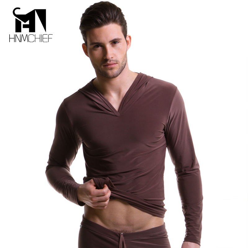 Men's Polyester Satin Pajama Transparent Silk Shirts For Men Erotische Long Sleeve Sexy Nightwear Jacket Comfortable Sleepwear