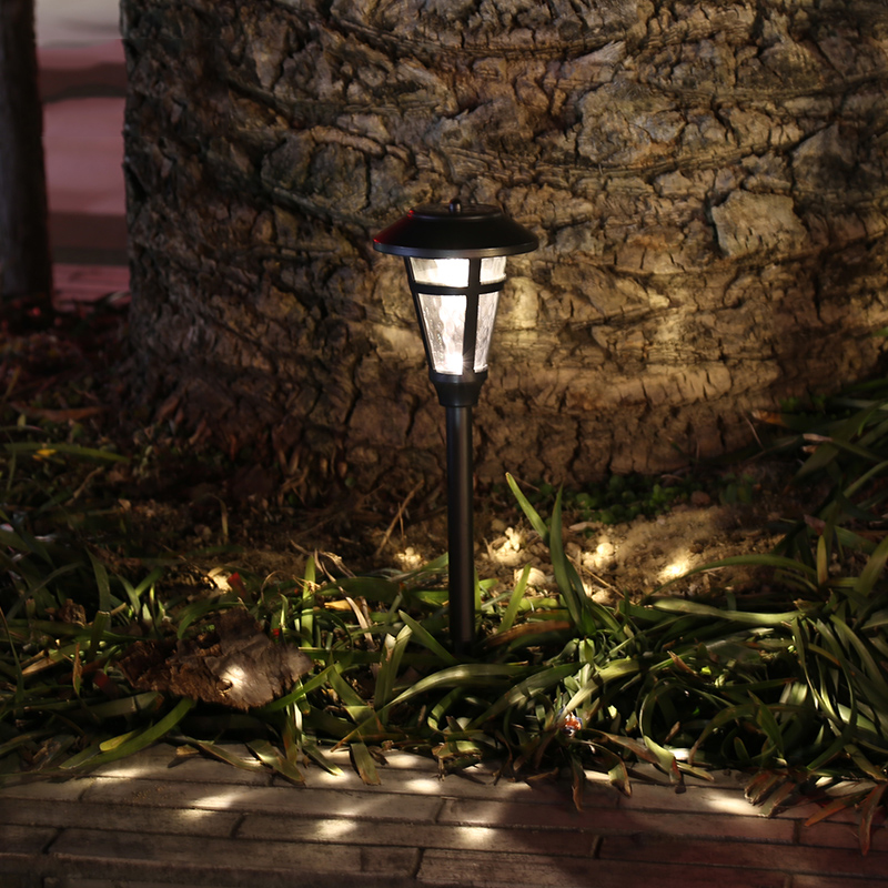 2pc led solar garden lights lamp solar powered led lawn light outdoor lighting free shipping - Decorative garden lights ...