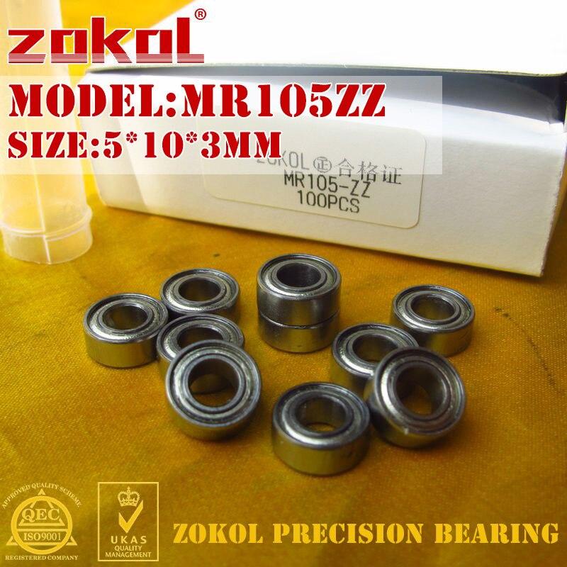 20pcs MR105ZZ L-1050 MR105 deep groove ball bearing 5x10x4 mm miniature  NJ