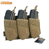 Spanker Tactical Universal Triple AK47 Ammo Clips Outdoor Hunting Equipment Bag Military 1050D Nylon Molle Magazine