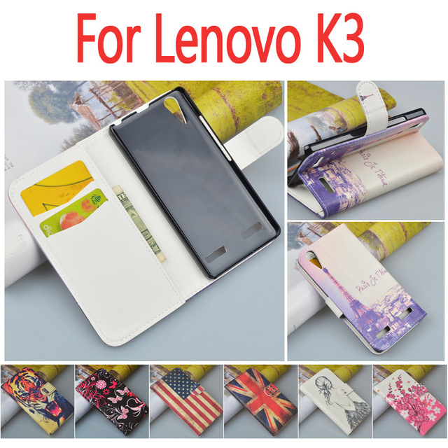 Luxury Leather case for Lenovo K3 A6000 A6010 flip cover housing for Lenovo A 6000 A