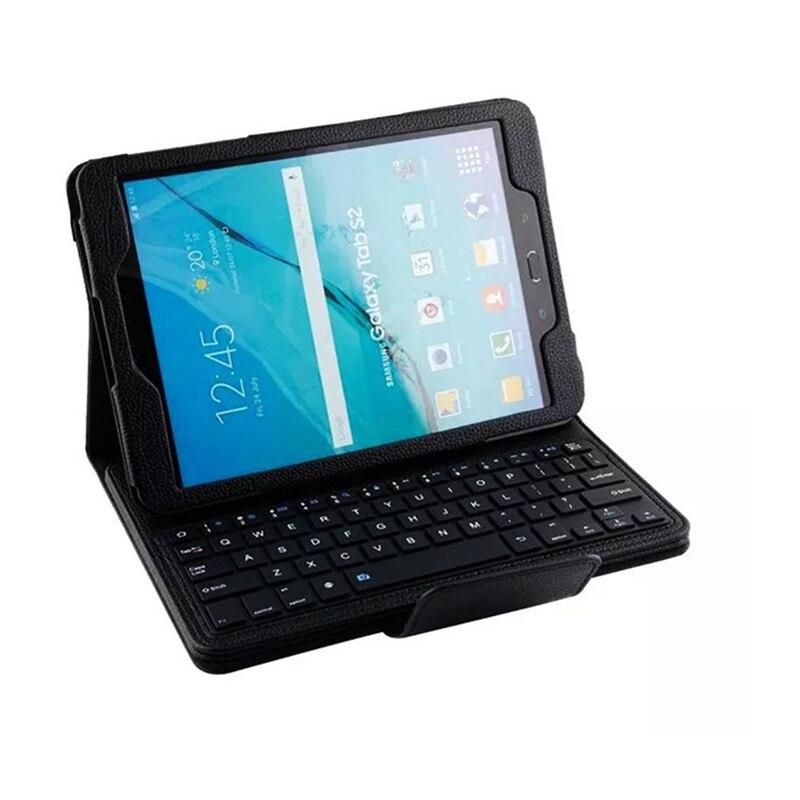 Black  Wireless Bluetooth Keyboard Folding Folio Cover Box For Samsung Galaxy Tab S2 9.7 T810 T815 samsung keyboard cover ej cg930ubegru black