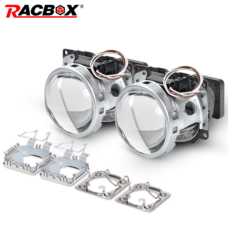 3.0 Inch Q5 Square Bi-xenon Lens Projector HID Headlight Full Metal Headlamp Lenses Use D1S D2S D2H D3S D4S Bulbs Car Styling