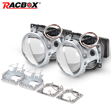 3.0 inch Q5 Square Bi-xenon Lens Projector HID Headlight Full Metal Headlamp Lenses Use D1S D2S D2H D3S D4S Bulbs Car Styling 2pcs 3 0 inch hella 5 car bi xenon hid projector lens metal holder d1s d2s d3s d4s xenon kit lamp car headlight universal modify