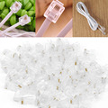 Promotion 100PCS Crystal Head RJ45 CAT5 CAT5E Modular Plug Gold Plated Network Connector