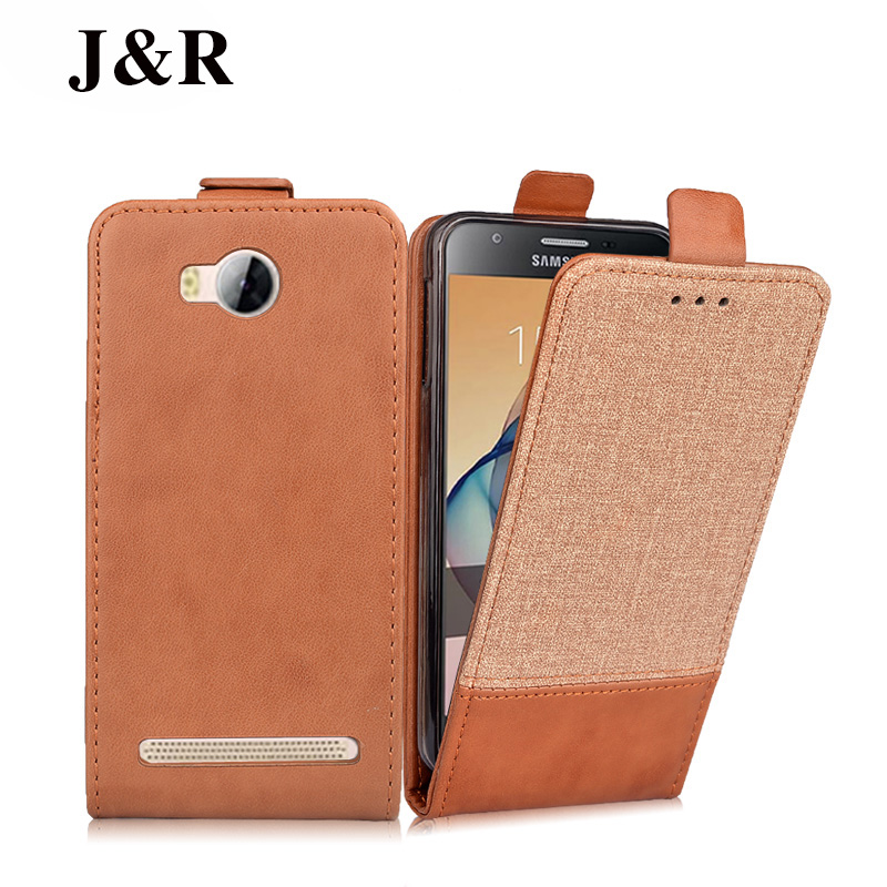 Leather Case For Huawei Y3 II Flip Cover For Huawei Y3ii Phone Cases Y3 2/Y3II-U22/ LUA-U22/Lua-L21 Bags J&R Protective Huawi ...