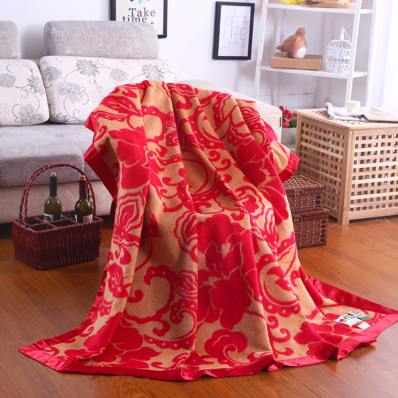 100 Mulberry velvet silk blanket warmful blankets throws bed cover soft healthy bed sheet 78 x90